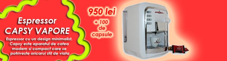 ESPRESSOR CAPSULE CAPSY VAPORE + 100 DE CAPSULE